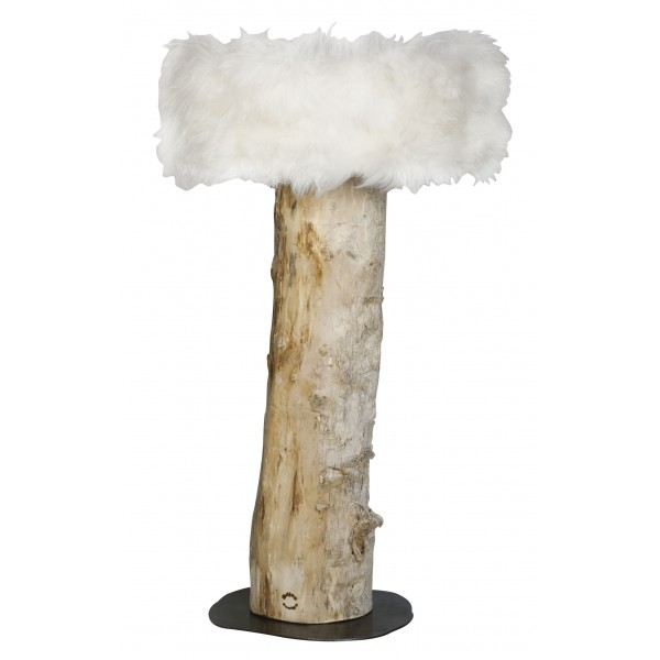 Unique Designer Floor Lamp In Driftwood And With Choice Of