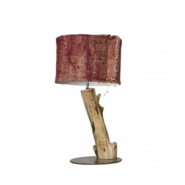 Gypaète Lamp, Painted Hessian